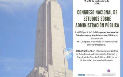 Congreso Nacional de estudios sobre Administración Pública