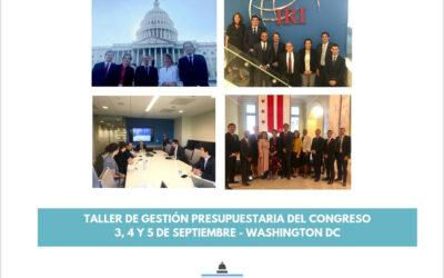 Taller de Gestión Presupuestaria del Congreso en Washington