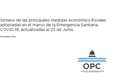 Síntesis de las principales medidas económico-fiscales adoptadas en el marco de la Emergencia Sanitaria COVID-19, actualizadas al 23 de junio
