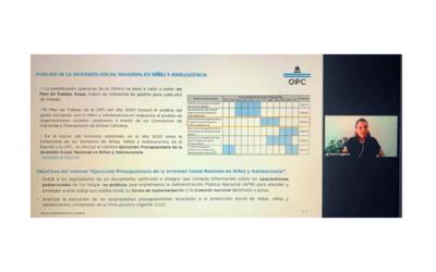 La Defensoría de los Derechos de Niñas, Niños y Adolescentes y la OPC presentaron el Monitor de Acciones Presupuestarias dirigidas a la Niñez y Adolescencia